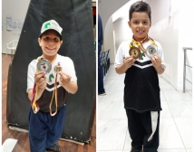 Emilio y Lucas en el sudamericano de ajedrez
