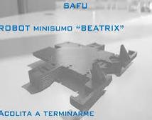 Robot Minisumo 'Beatrix' por SAFU estudiantes de la POLI